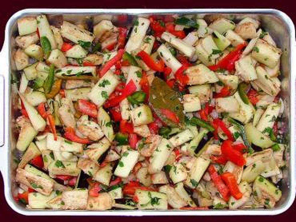 Salada de Benrijela no forno