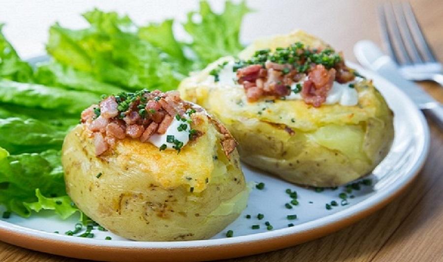 Baked Potato queijo de bacon