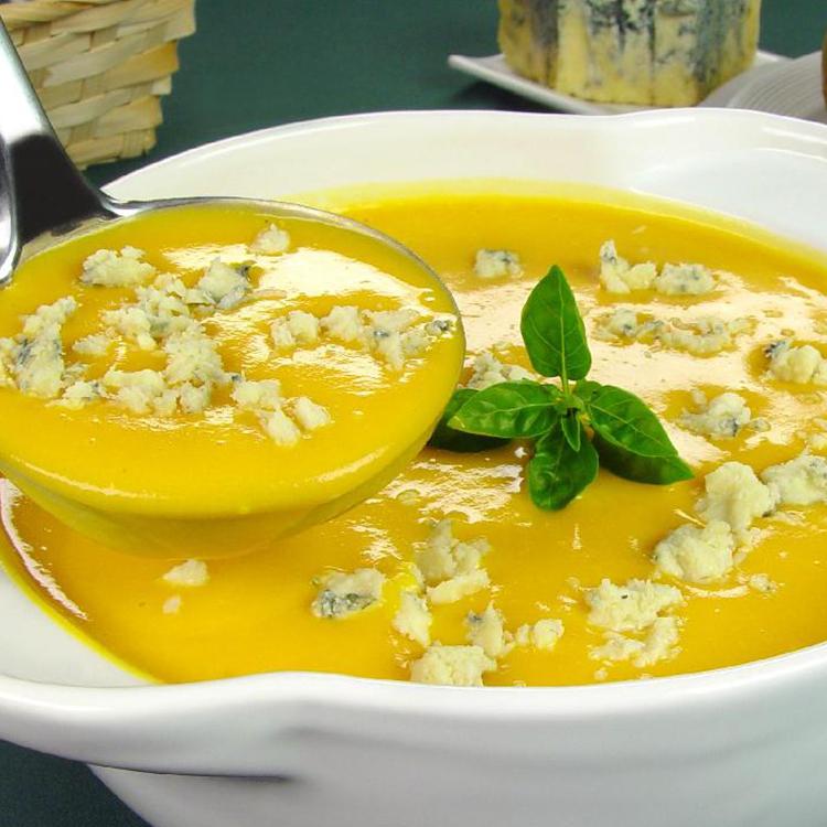 Sopa de Abóbora com Gorgonzola