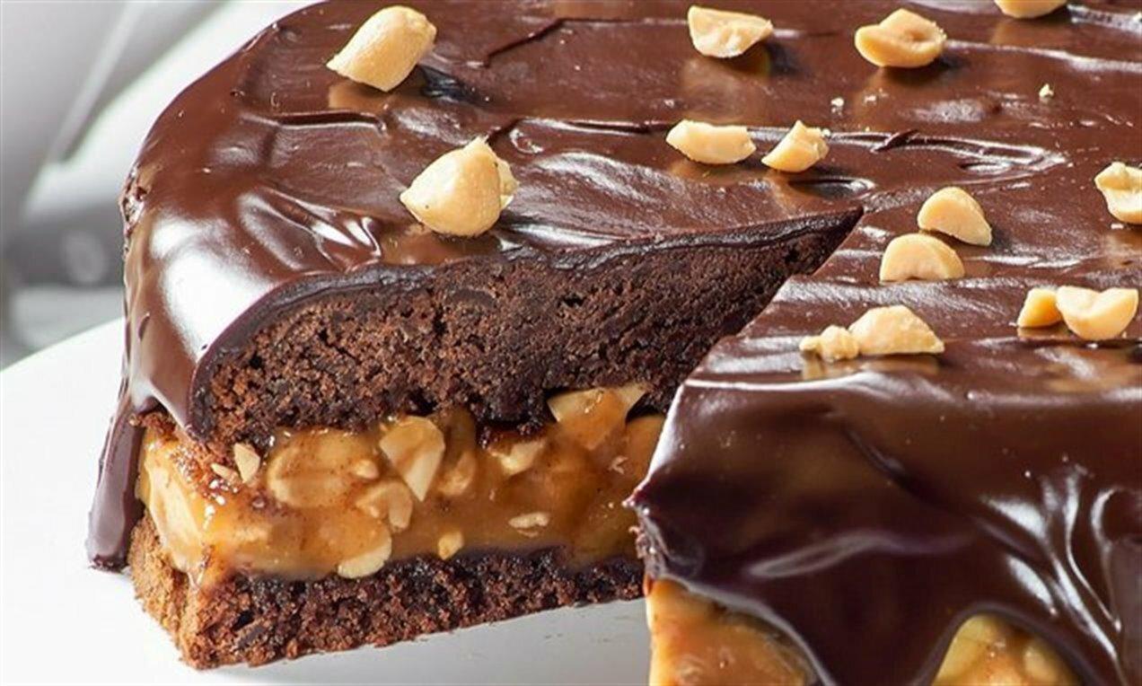 Bolo de Chocolate com Amendoim